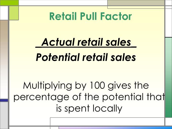 Retail Pull Factor