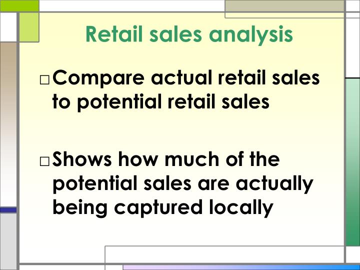 Retail sales analysis
