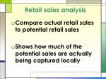 retail sales analysis