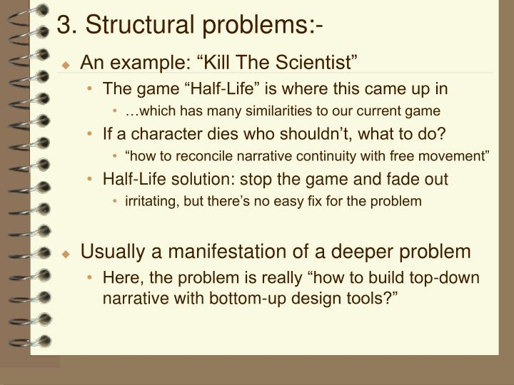 3. Structural problems:-