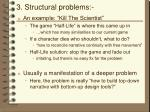 3 structural problems
