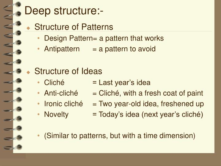 Deep structure:-