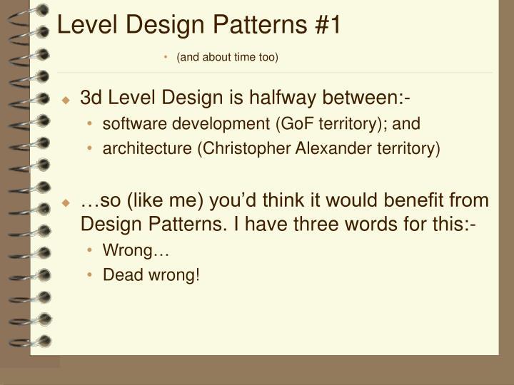 Level Design Patterns #1