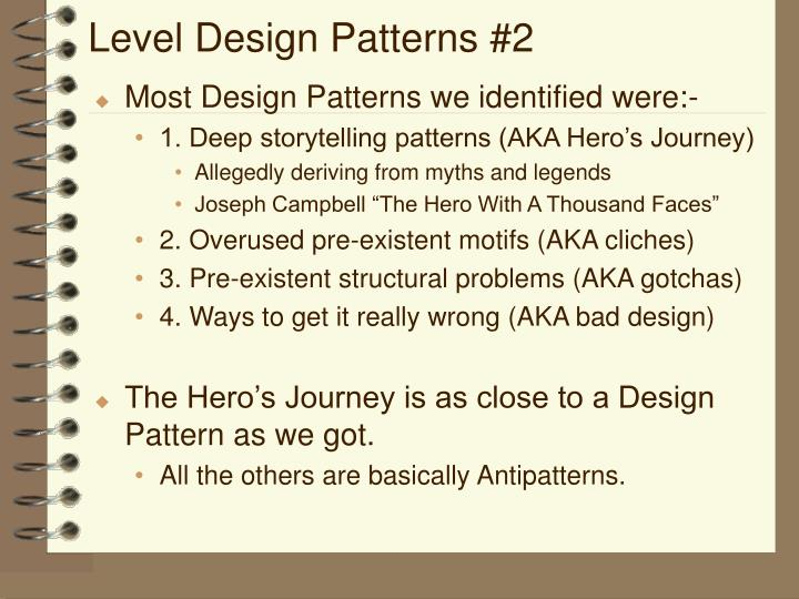 Level Design Patterns #2