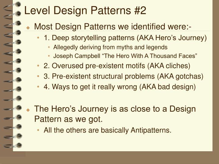 Level Design Patterns #2