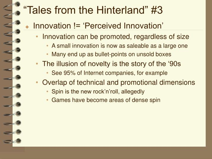 """Tales from the Hinterland"" #3"