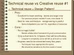 technical reuse vs creative reuse 1