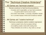 the technical creative hinterland