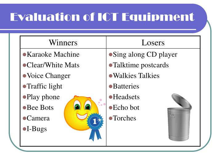 Evaluation of ICT Equipment