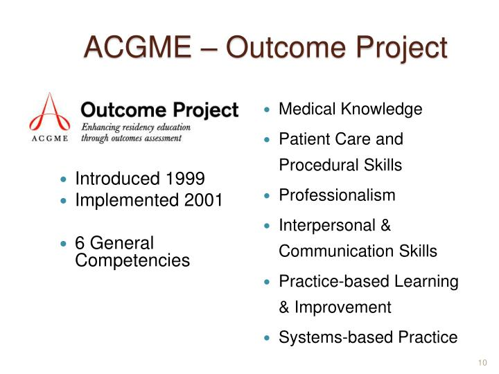 ACGME – Outcome Project