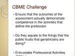 cbme challenge