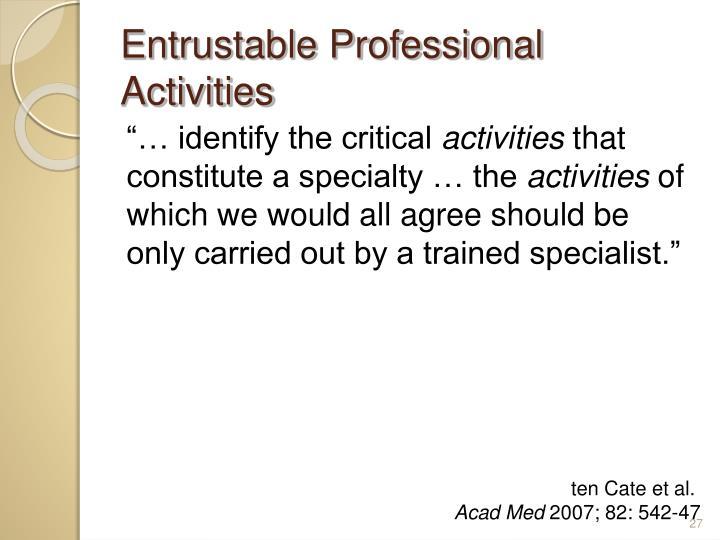 Entrustable Professional Activities