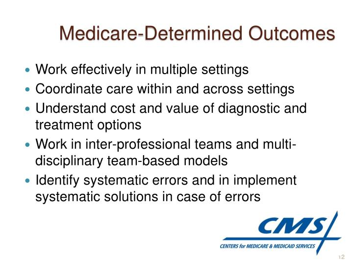 Medicare-Determined Outcomes