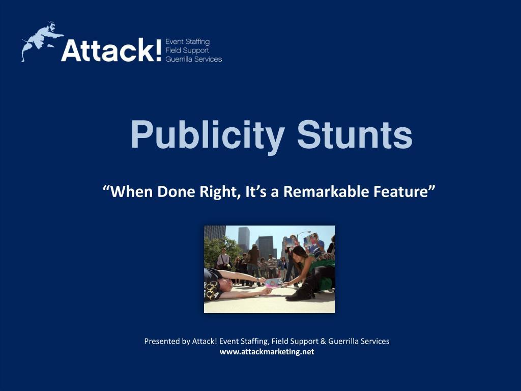 Publicity Stunts