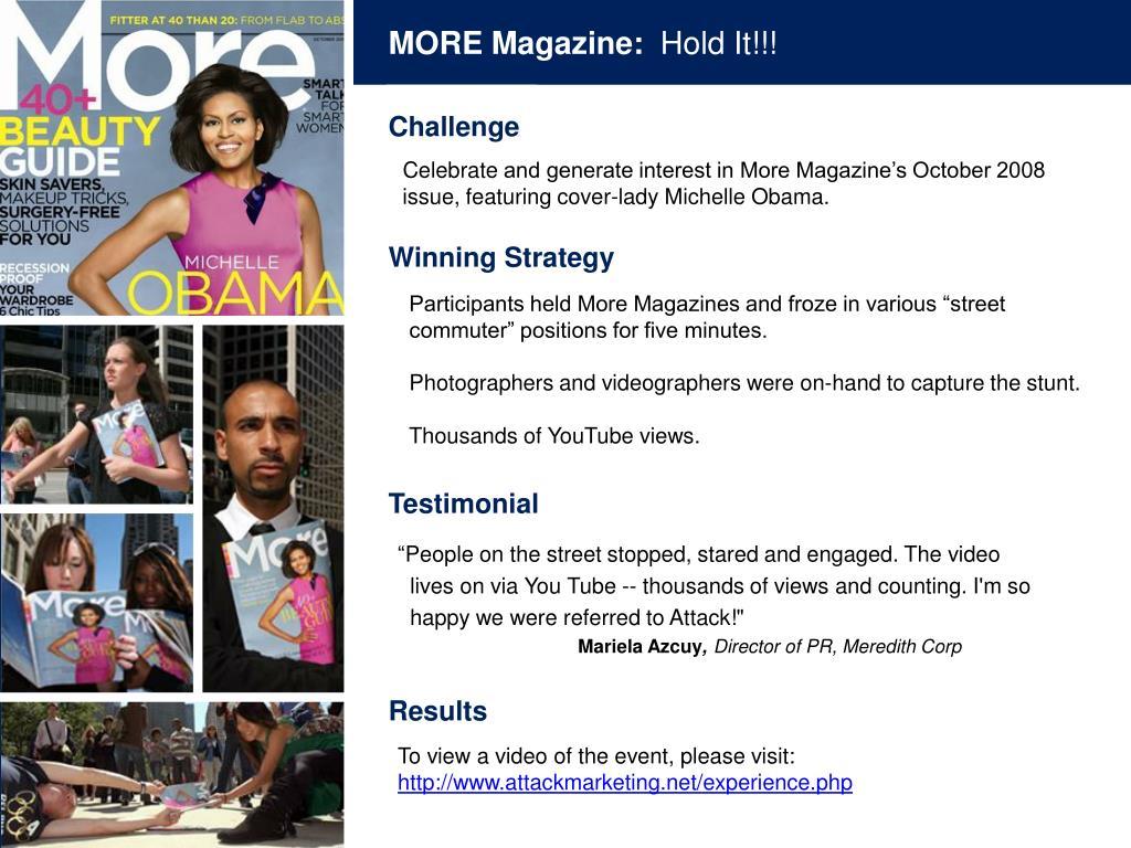 MORE Magazine: