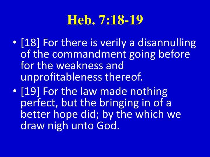 Heb. 7:18-19