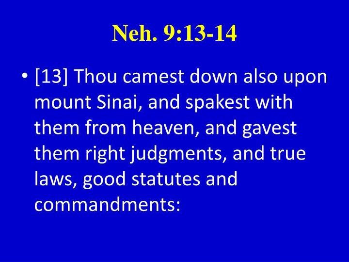 Neh. 9:13-14
