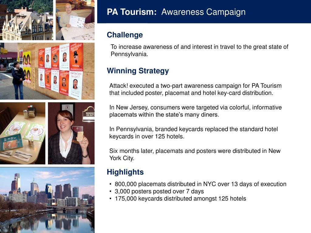 PA Tourism: