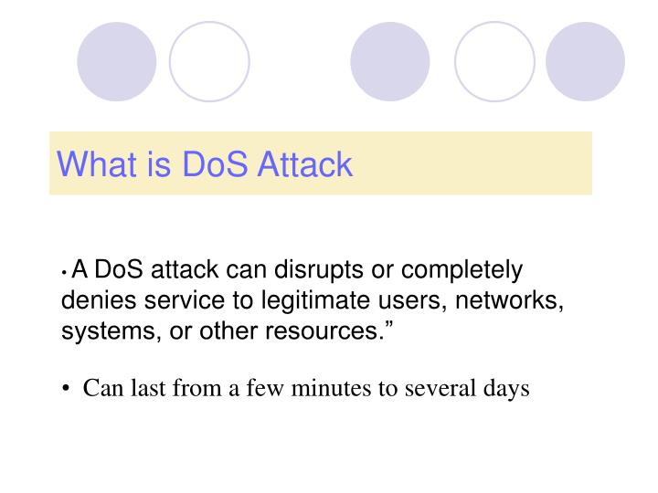 What is dos attack