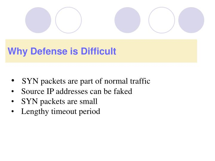 Why Defense is Difficult