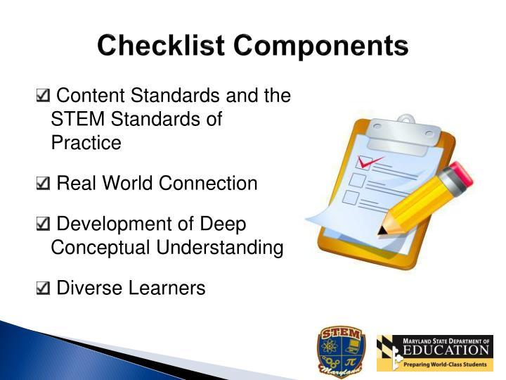 Checklist Components