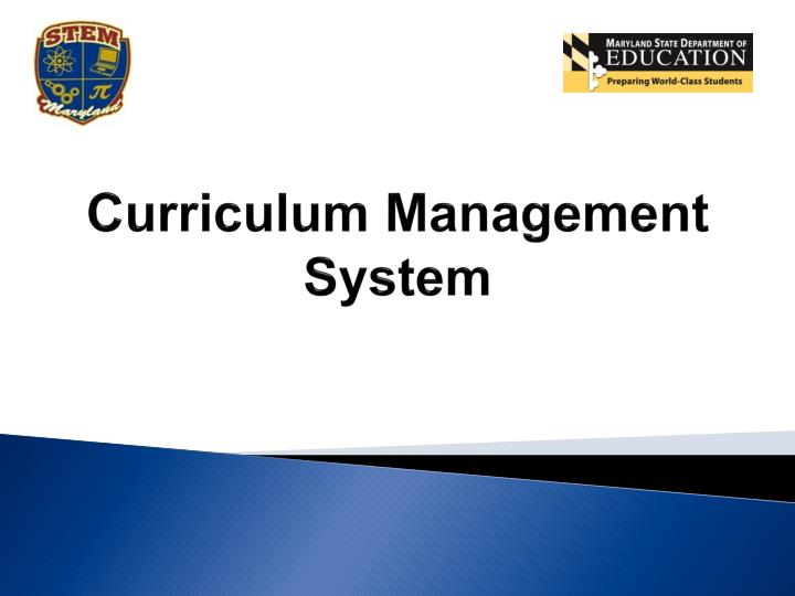 Curriculum Management System