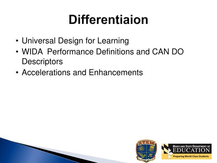 Differentiaion
