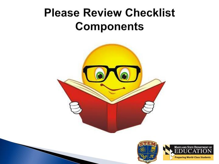 Please Review Checklist Components