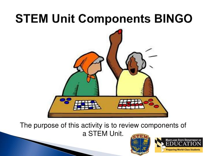STEM Unit Components BINGO
