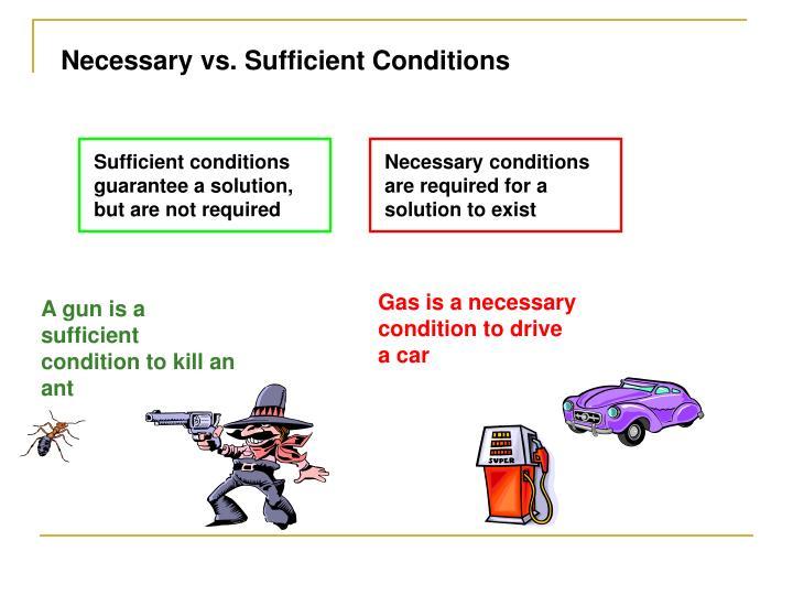 Necessary vs. Sufficient Conditions