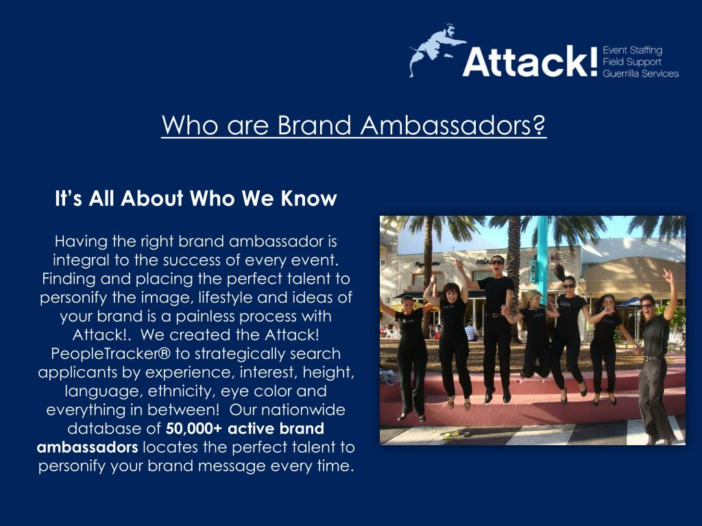 Who are Brand Ambassadors?