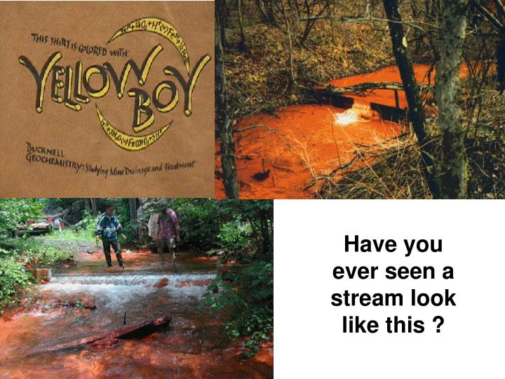 Have you ever seen a stream look like this ?