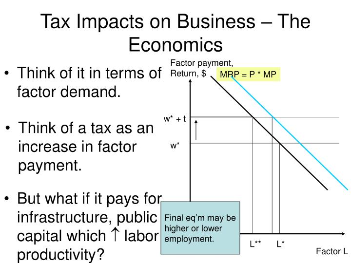 Tax Impacts on Business – The Economics