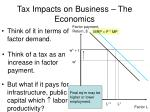 tax impacts on business the economics