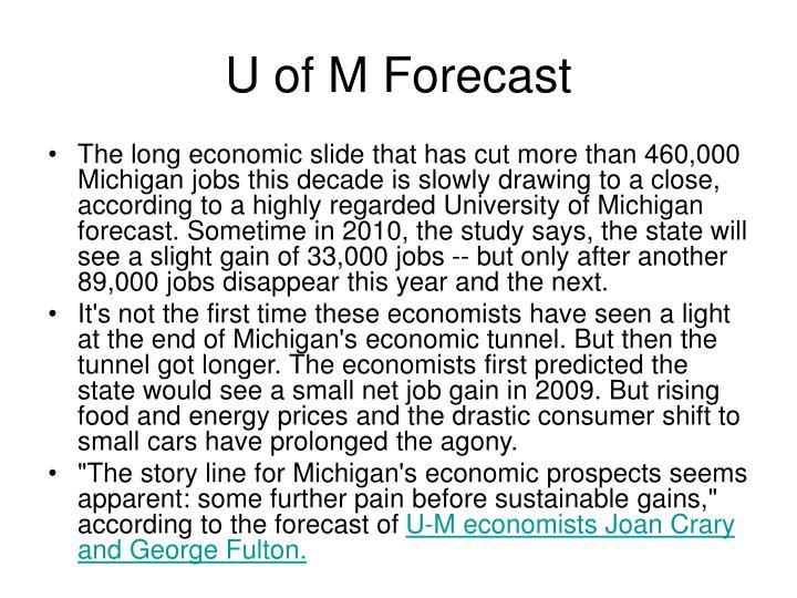U of M Forecast