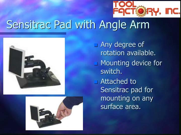 Sensitrac Pad with Angle Arm