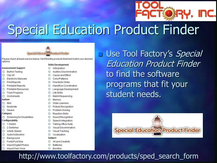 Special Education Product Finder