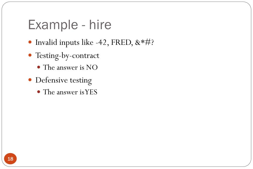 Example - hire