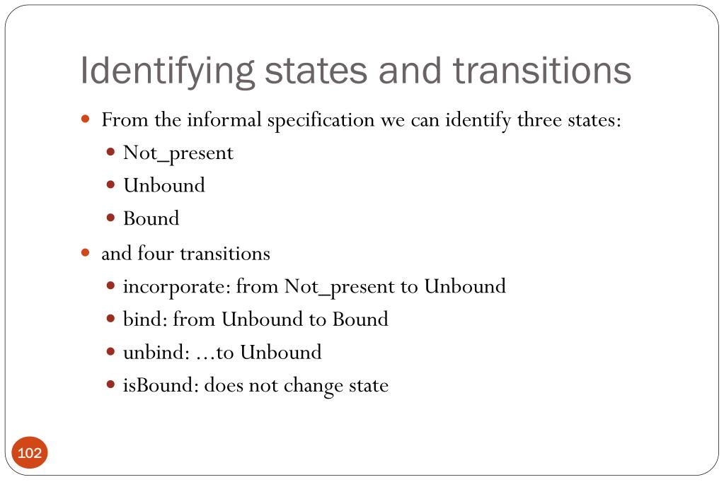 Identifying states and transitions