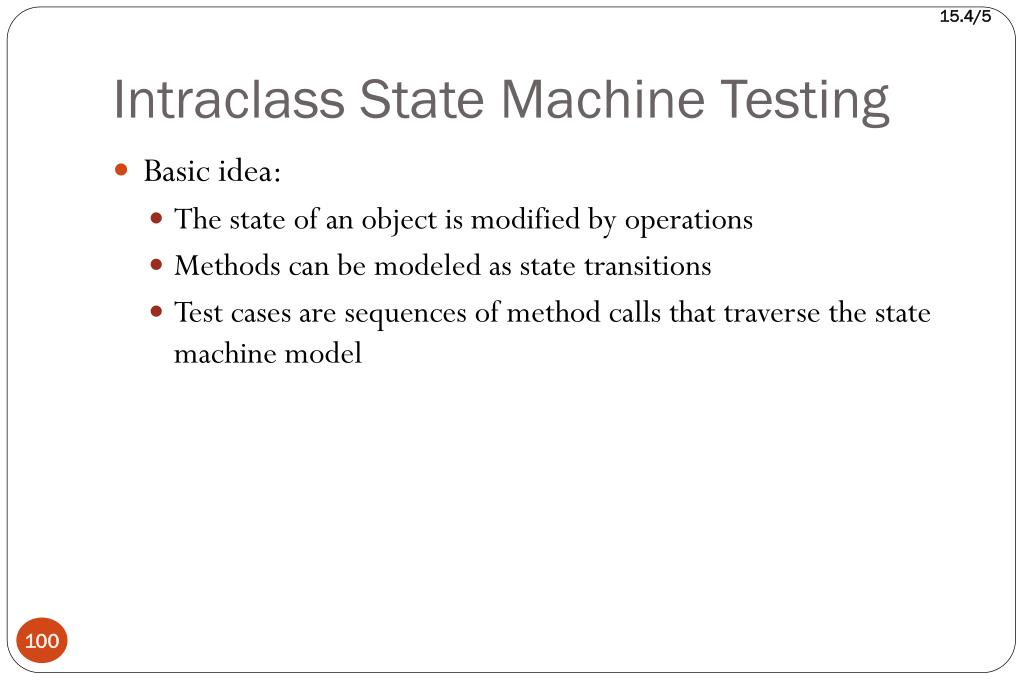 Intraclass State Machine Testing