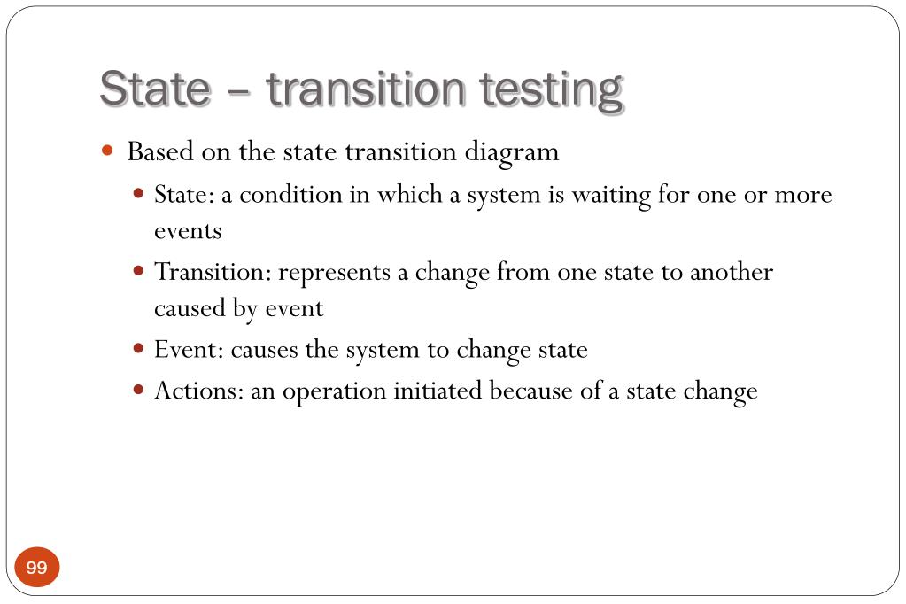 State – transition testing