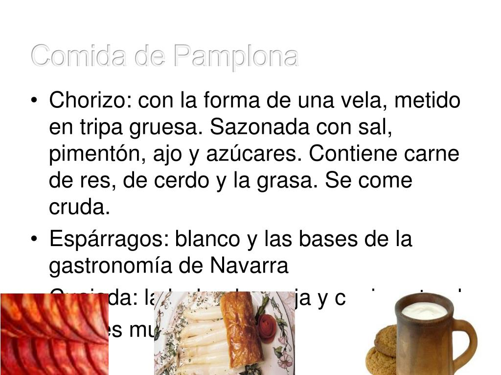 Comida de Pamplona
