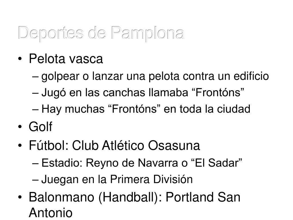 Deportes de Pamplona