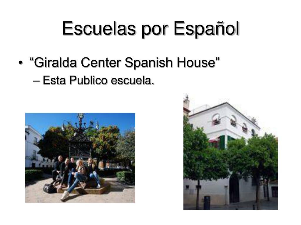 Escuelas por Español