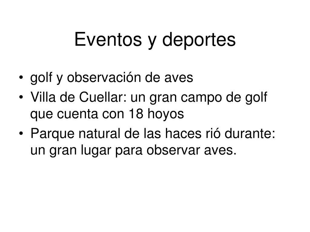 Eventos y deportes