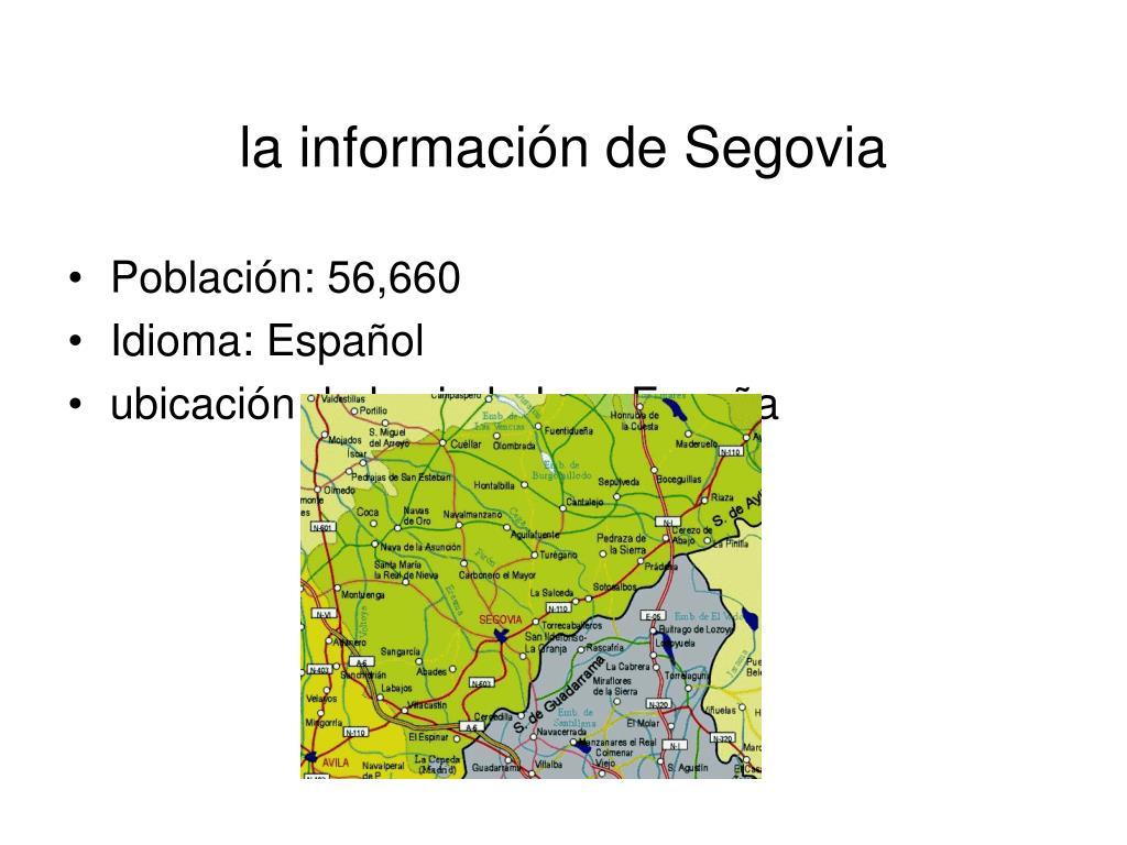 la información de