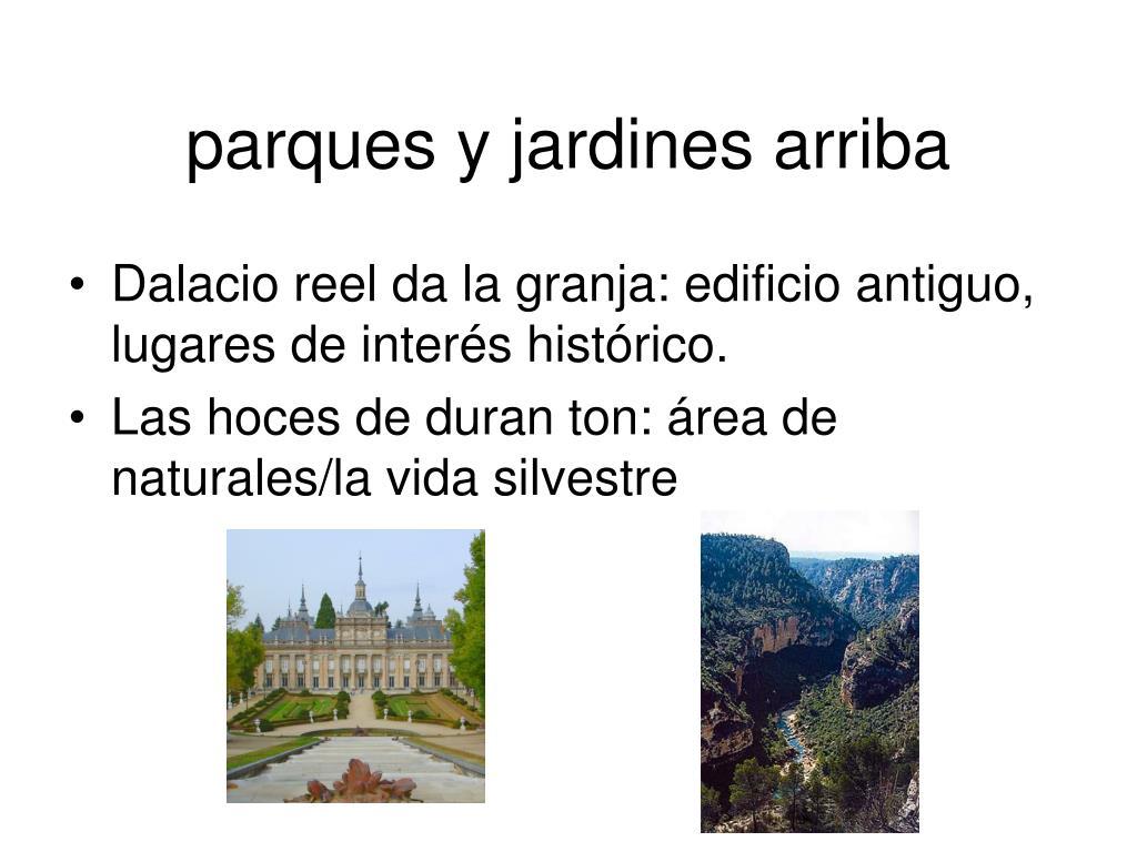 parques y jardines arriba