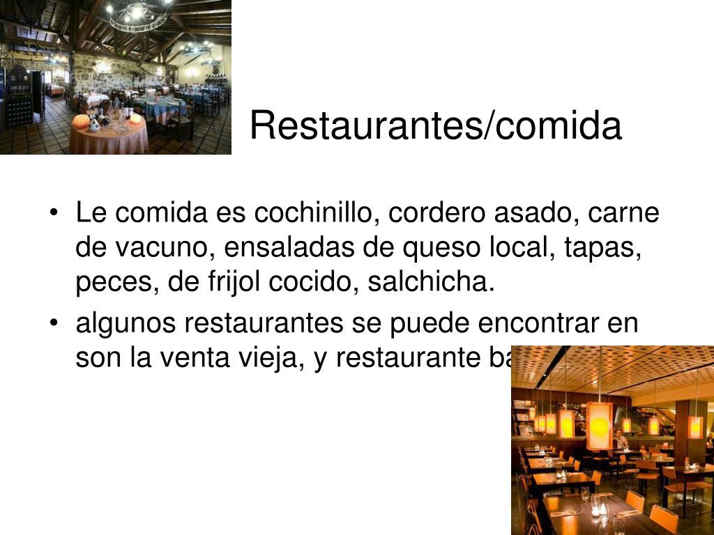 Restaurantes/comida