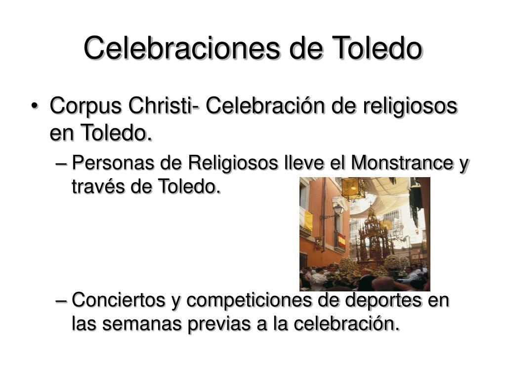 Celebraciones de Toledo