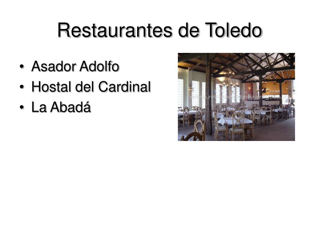 Restaurantes de Toledo